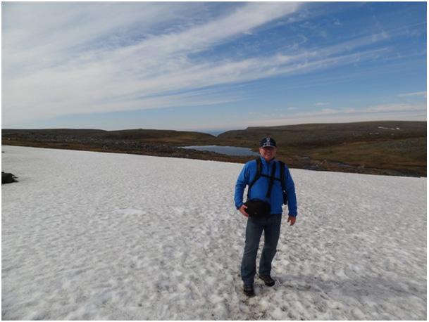 Krzysiu dzielnie przemierza liczne pola lodowe