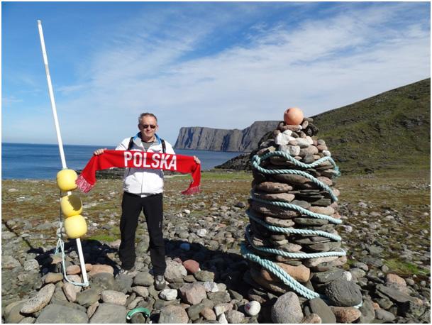Nad brzegiem Morza Północnego . Z widokiem na Nordkapp