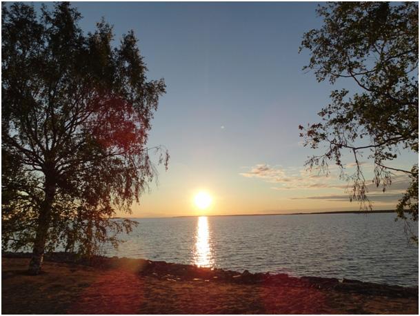 Oulu  zachód słońca około północy